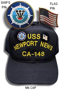 b913245a3bec0 NN Cap with Ship s Pin and Flag Pin